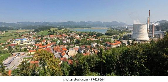 The Sostanj town.