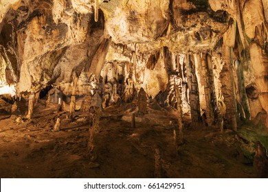 Sosuvska Cave in the Moravsky Kras. Moravian Karst. Czech republic. Czech Cave.