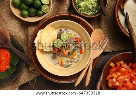 Soto Betawi Traditional Beef Offal Soup Stock Photo Edit Now