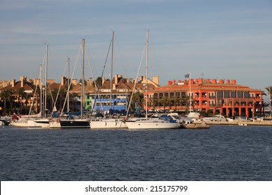 SOTOGRANDE, SPAIN - NOV 14: Yachts and boats at the marina in Sotogrande. November 14, 2012 in Sotogrande, Costa del Sol, Andalusia, Spain