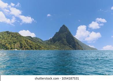 Soufriere bay - Petit Piton area - Caribbean island - Saint Lucia
