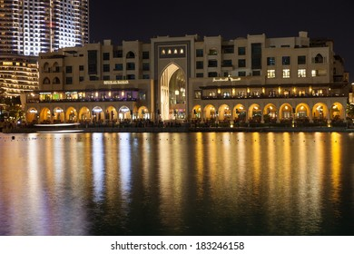 Souk al Bahar building and Business Bay area Dubai (UAE)