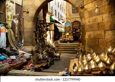 Souk of Cairo, Egypt market