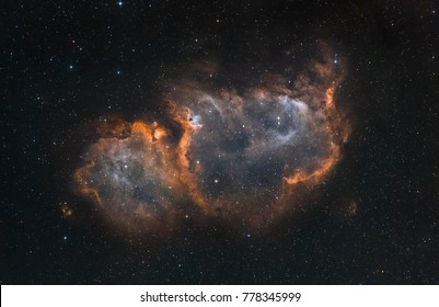 The Soul Nebula in the constellation Cassiopeia (narrow band light)