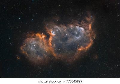 Der Seelennebel im Sternbild Cassiopeia (enges Bandlicht)