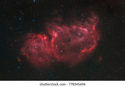 The Soul Nebula in the constellation Cassiopeia (visible light)