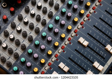 Sound console top view