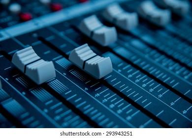 Sound Control. Mixer, sequencer. Background