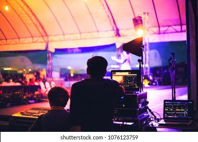 Touring equipment images stock photos vectors shutterstock sound engineer control music in concert malvernweather Image collections