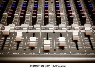 sound mixer background.