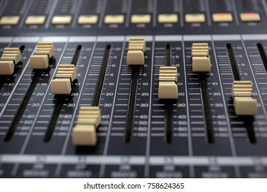Sound mixer console is an electronic device for combining sounds, routing, and changing the volume level, timbre or dynamics of many different audio signals.