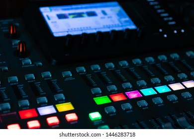 Sound mixer, sound control at a concert, in a club, in a recording studio.