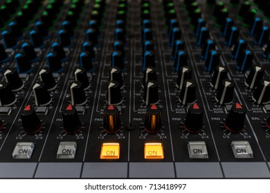 Sound mixer control panel background
