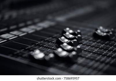 sound mixer control panel selective focus