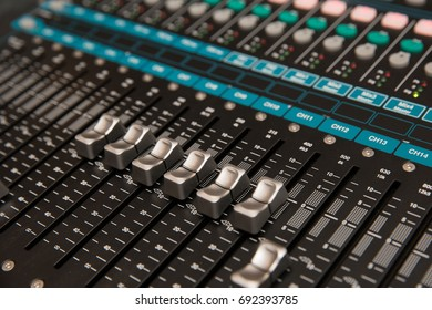 sound mixer in the event hall