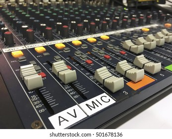 Sound music mixer and control panel
