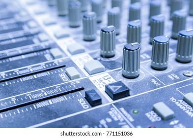 sound panel close-up