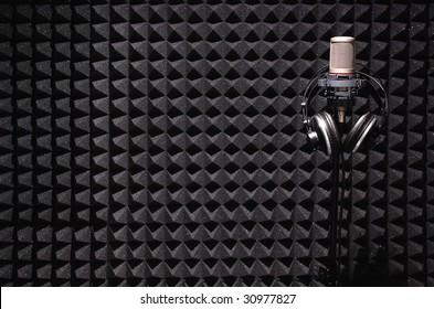 sound recording studio.