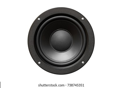sound speaker isolated o white background
