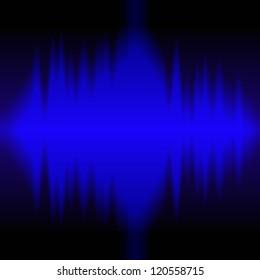 sound waves on black background
