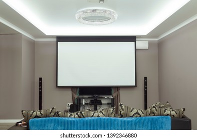 soundproof home theater in home. mockup