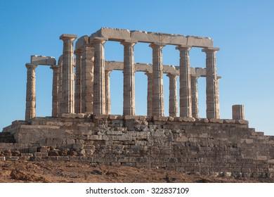 Sounion temple of poseidon, Greece