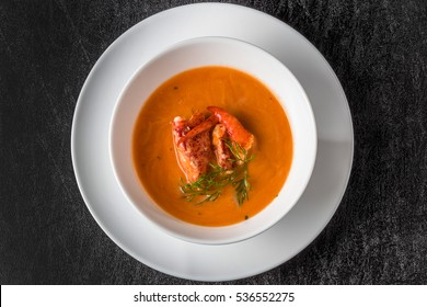 Soup bisque of the lobster