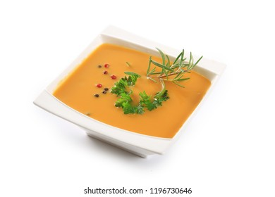 soup bowl isolated on white background