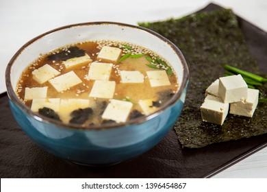 soup cheese sea kale laminaria