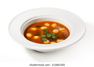 Soup with Fishball and Parsley