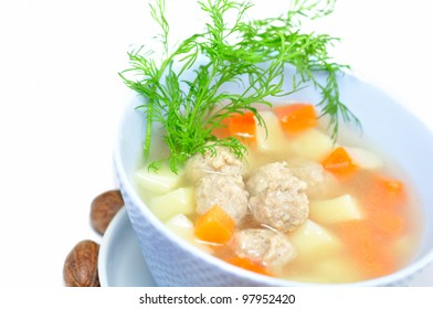 Soup with meatball