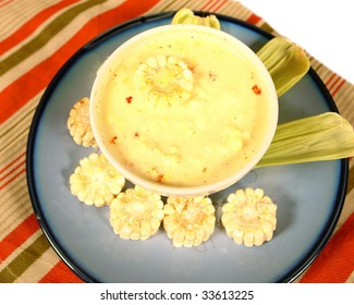 Soup from paraguay with white corn