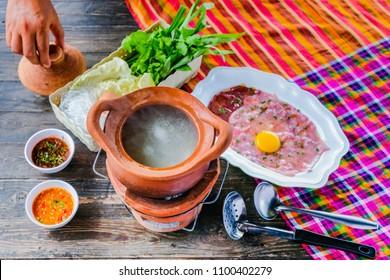 Soup with Pork Pot Hot Pot thai style