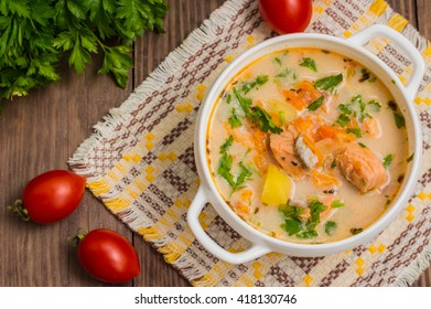"Soup with salmon ""Finland"""