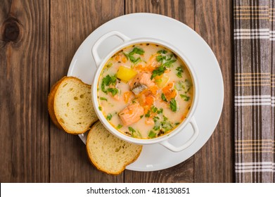 """Soup with salmon """"Finland"""""""