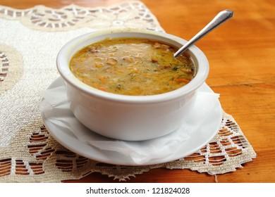 Soup of Sauerkraut White Cabbage
