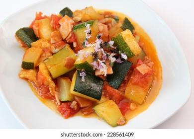 Soup of zucchini