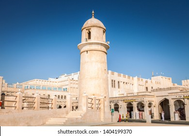 Souq Waqif Mosque in Doha. Doha, Ad-Dawhah, Qatar.