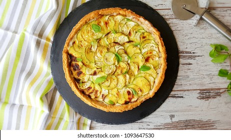 sour cream zucchini tart