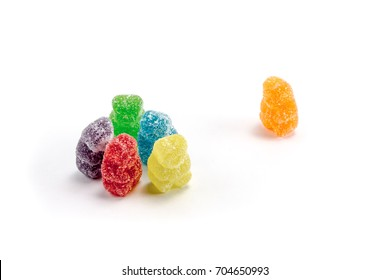 Sour gummy bears in an exclusive group