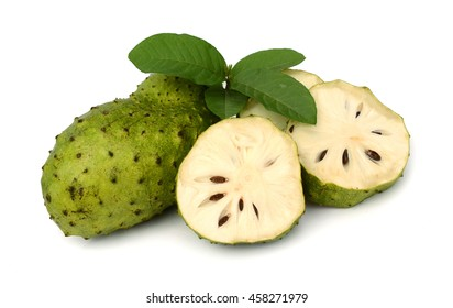 Sour sop, Graviola, Guyabano isolate on white background