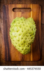 Sour sop, Graviola, Guyabano, Prickly Custard Apple on white background