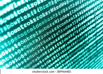 Source code photo. Writing program code on computer. Programming code on computer screen. Website development. (Code is my own property there is no risk of copyright violations)