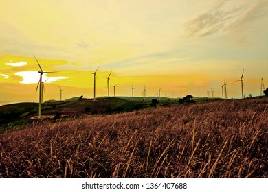 Source of energy from wind turbines - Image