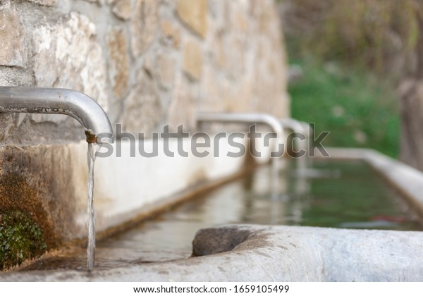 Source of natural spring water.