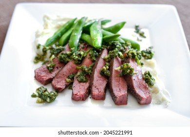 Sous Vide Argentine Flank Steak with Chimichurri Sauce