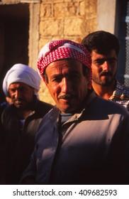 SOUSIA, SYRIA - NOV 8, 1996 - Village leader poses for his portrait in a village near  Aleppo, Syria