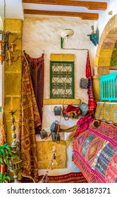 SOUSSE, TUNISIA - SEPTEMBER 1, 2015: The vintage restaurant in Medina creates the unusual atmosphere of arabic fairy tail, on September 1 in Sousse.