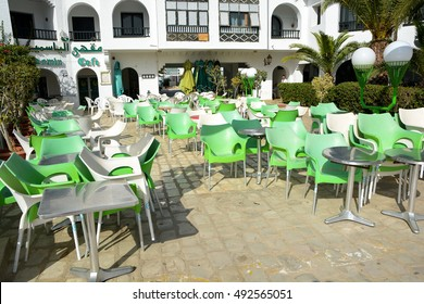 SOUSSE,TUNISIA - JUNE 29,2016 a restaurant on the waterfront of port El Kantaoui
