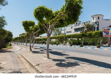 SOUSSE,TUNISIA - March 5, 2017: On the streets of the resort town of Sousse. Port area of El Kantaoui.